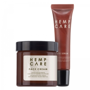 Duo Hemp Care Krem do twarzy i serum pod oczy